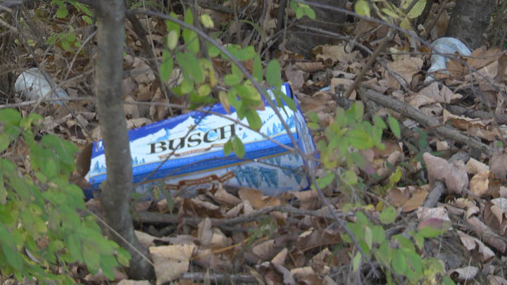 Signs of trash from illegal dumping and littering could be found around the borough of Centralia PA before the cleanup began.