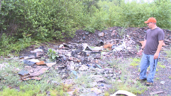 Before the cleanup day, the areas around Odd Fellows Cemetery had significant amounts of junk and trash.