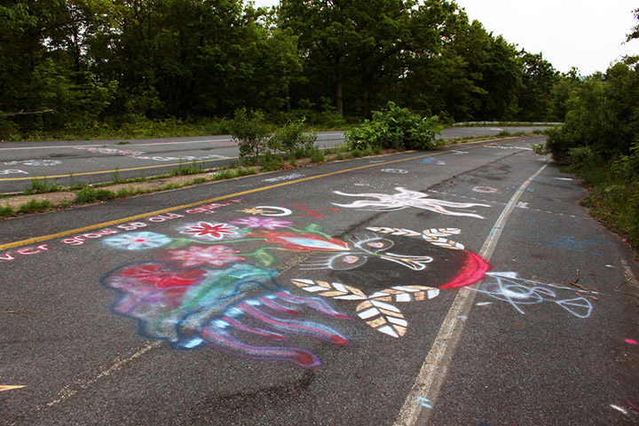 Graffiti on old Route 61 in Centralia Pennsylvania. Credit: Flickr/thisisbossi