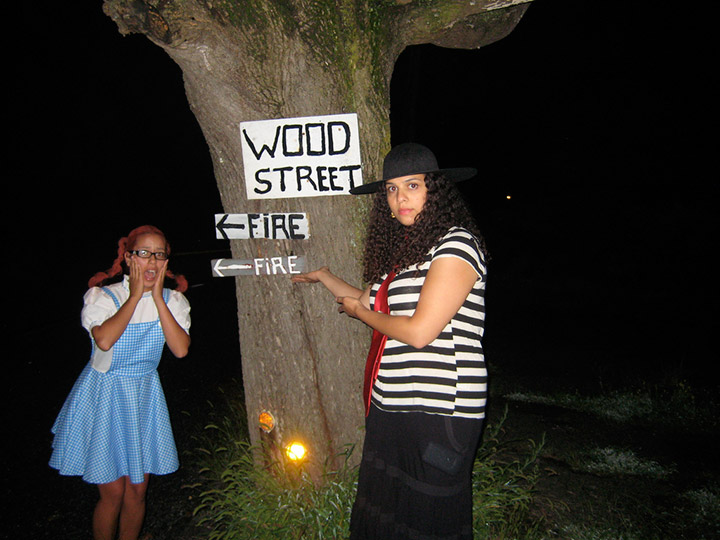 By the Wood Street sign in Centralia Pennsylvania on Halloween. Credit: Flickr/inmysparetime
