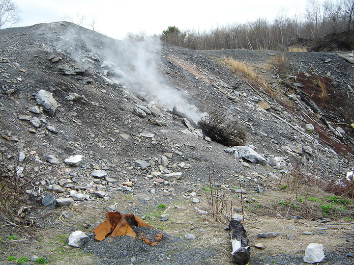 Steam from the Centralia PA mine fire. Credit: Flickr/dmuth