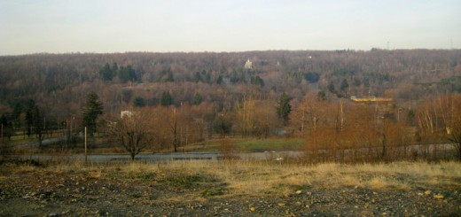 Looking north from the Centralia Pennsylvania burn zone