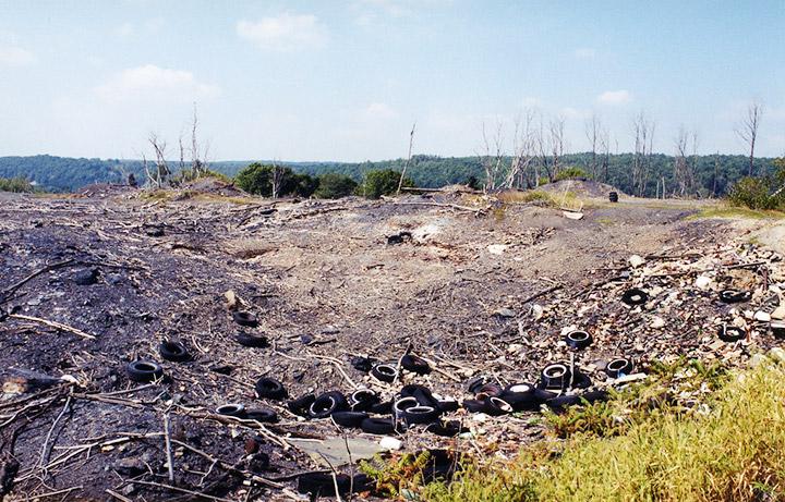 Centralia Pennsylvania Burn Zone Mine Fire