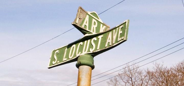 Centralia PA Park Street Locust Avenue Sign
