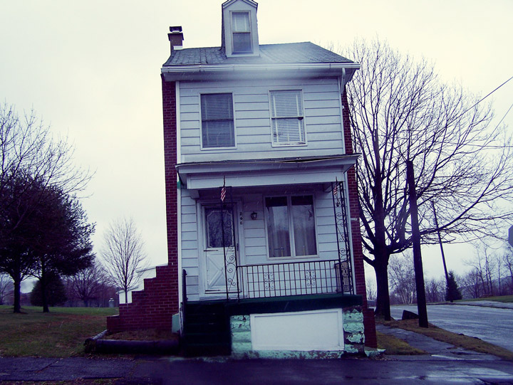 Lone house in Centralia Pennsylvania