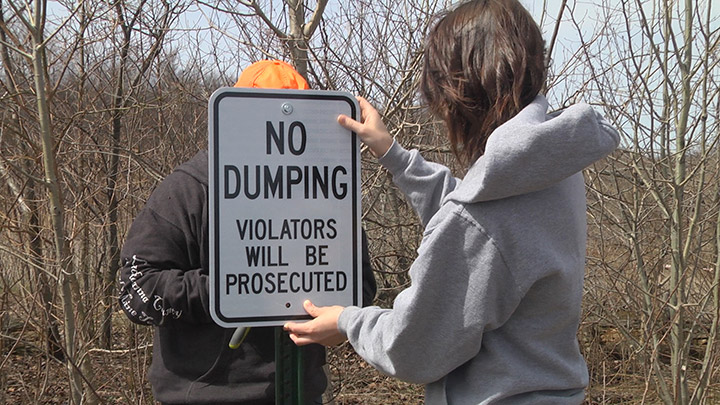 Centralia PA No Dumping Sign