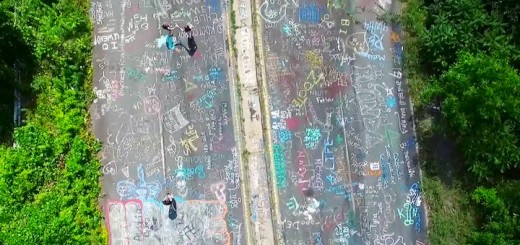 Centralia PA Drone Footage Graffiti Highway