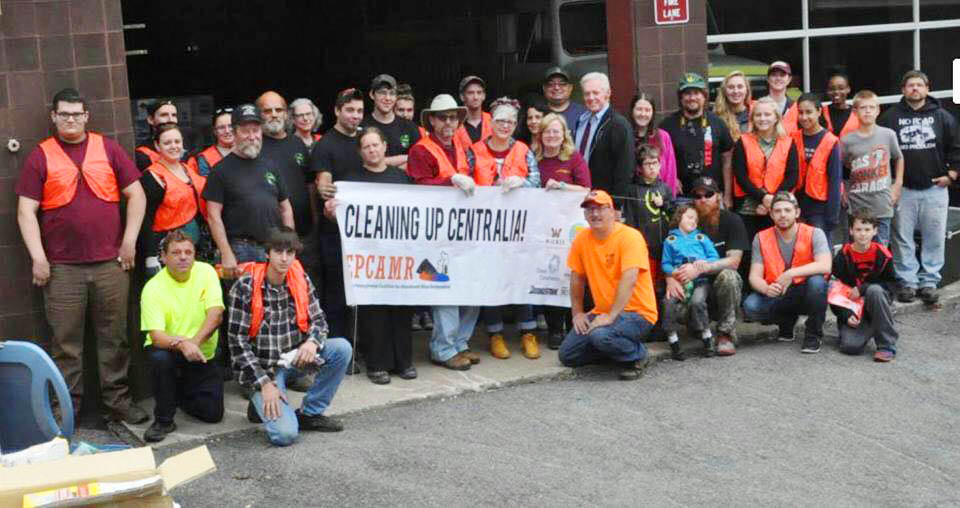 Centralia PA Cleanup Day Volunteers