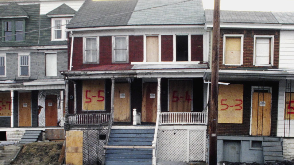 Still of Boarded Up Homes in Centralia Pennsylvania