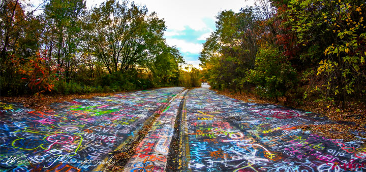 Graffiti Highway at Dusk