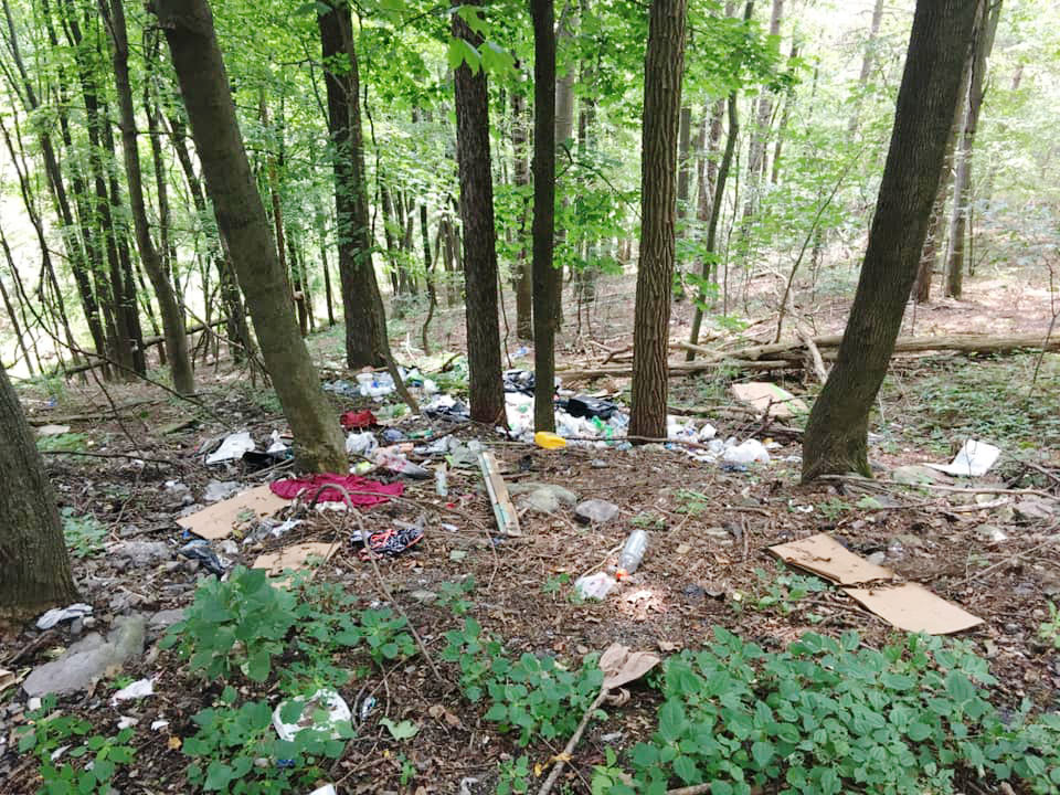 Trash in Centralia Pennsylvania 2019